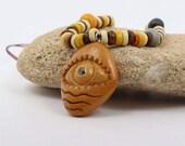 Sea Pendant, Avocado seed Necklace, Avocado Pendant, Eye Pendant, Gift for her, Cruelty free, Polyphemus