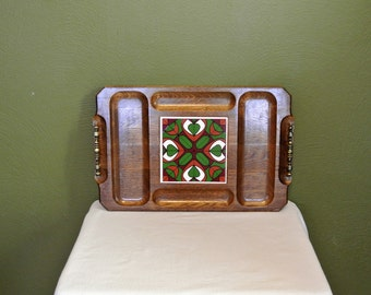 Wood and Tile Cheese/Serving Board