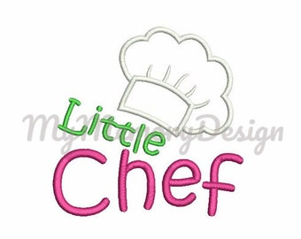 Little Chef Hat Embroidery Design - Cook hat applique design - Girl embroidery - Machine embroidery file INSTANT DOWNLOAD  4X4 5X7 6X10 SIZE