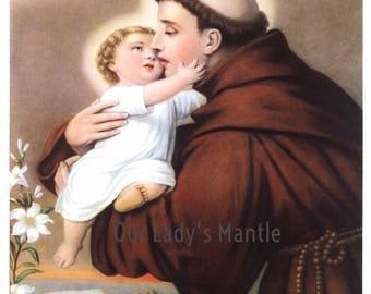 SAINT ANTHONY of PADUA Print 8x10 Catholic Religious Art Picture from Italy