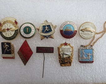 Soviet badges DOSAAF, badges, pin