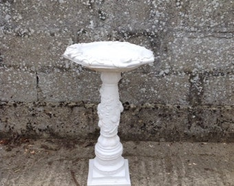 Stone Rose Pedestal Bird Bath - Great for the Garden and the Birds