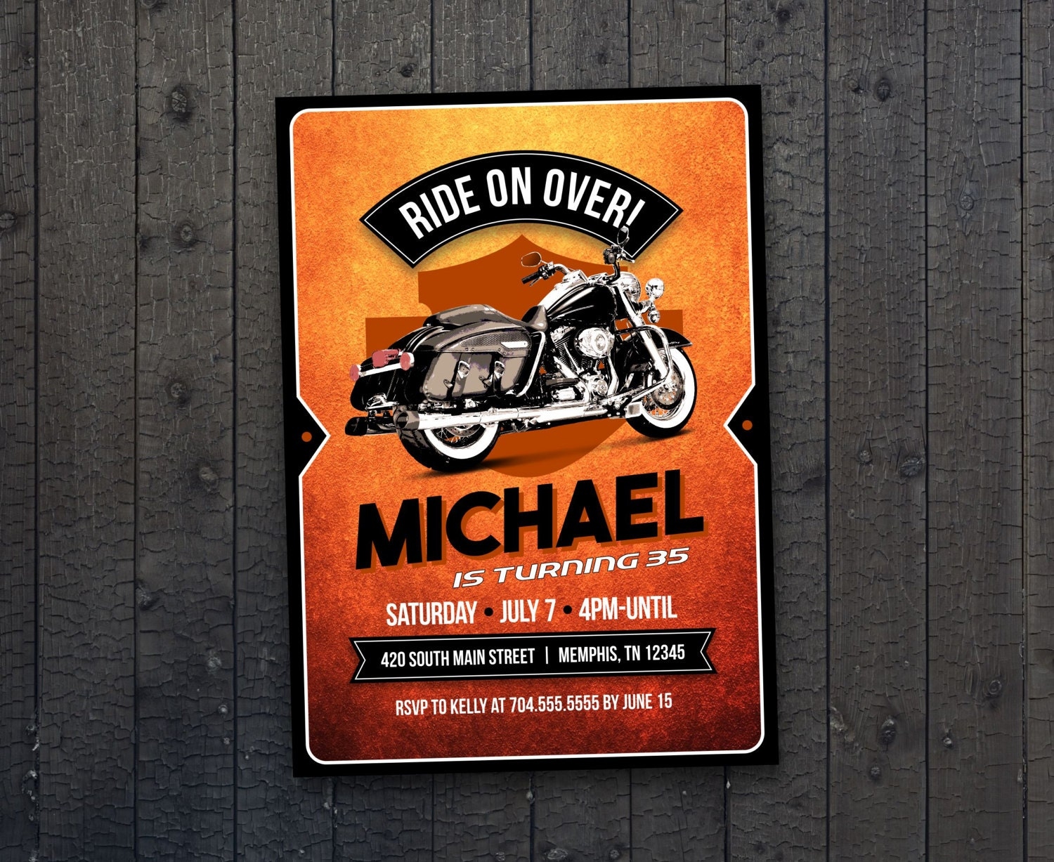 Motorcycle biker birthday invitation vintage motorcycle birthday motorcycle biker birthday invitation vintage motorcycle birthday motorcycle invite harley davidson birthday filmwisefo Image collections