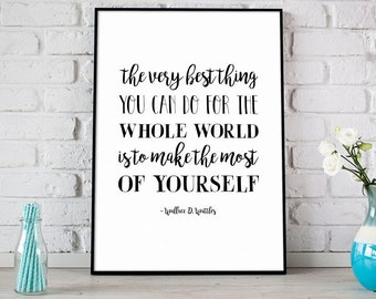 Make The Most Of Yourself Print, Wallace D. Wattles Quote, Digital Print, Instant Download, Inspirational Quote, Home Decor - (D151)