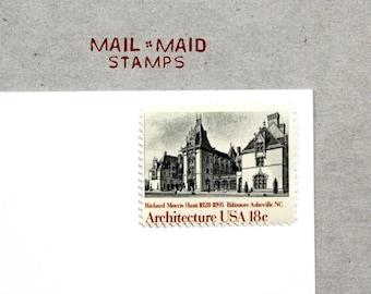Biltmore House    Set of 5 unused vintage postage stamps