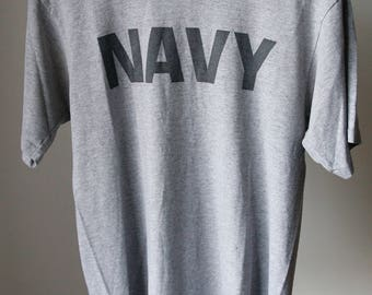 Vintage Navy 50/50 T-shirt Size Medium