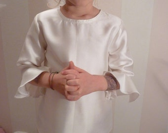 "Ruffle sleeve blouse ""Columbine"""