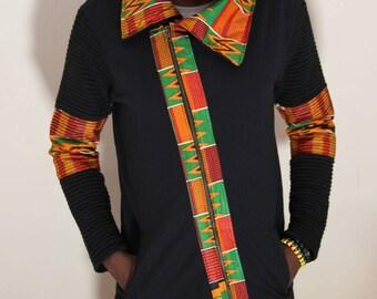 Men's Couture African Fabric Coat