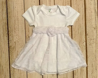 White Baby Dress, Baby Dedication Dress, Baptism Dress for Baby Girl, Blessing Dress, Newborn Baptism Outfit, Baby Wedding Dress, Lace Dress