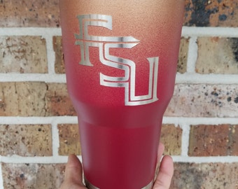 30 oz Painted FSU Florida State Stainless Steel Tumbler