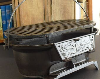 Cast Iron Grill Etsy