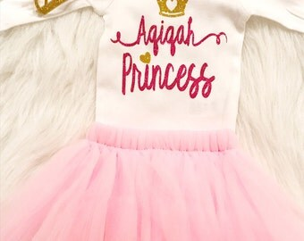 Aqiqah Princess Tutu Set- Aqeeqah Gift, Aqeeqa Gift, Muslim Baby clothing, muslim baby girl, islamic gifts, pakistani baby girl outfit