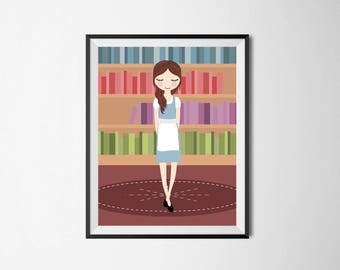 Belle - Beauty and the Beast Print - Fairy tale wall art