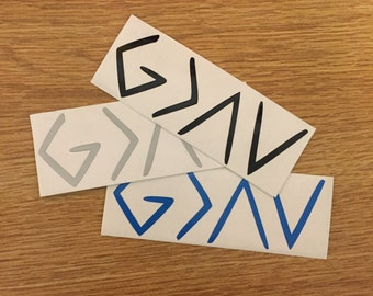 God is Greater Than The Highs and the Lows Decal   Faith Decal   Inspirational Decal   Christian Decal  