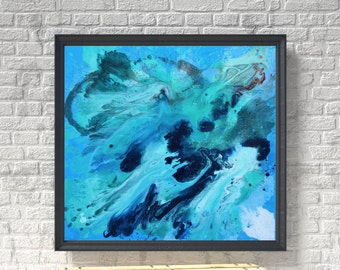 Abstract Painting Blue and Green Art Abstract Art Modern Painting Large Painting Wall Art Abstract Modern Art Blue Green Wall Art Canvas