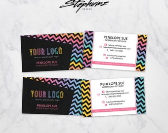 Chevron Small Business Marketing Business Card
