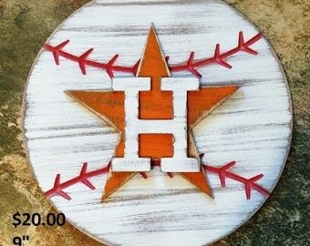 Rustic Astros Decor