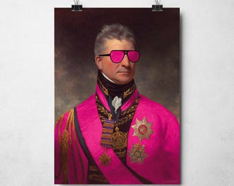 """Cool and Eccentric Art Print - """"Admiral Awesome"""" 