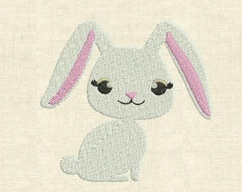 Machine embroidery design cute animals bunny