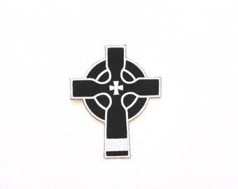 Celtic christian cross patch