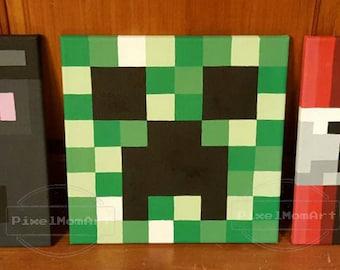 Minecraft 12x12 Custom Canvas Paintings