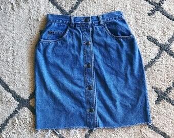 High Waisted Button Down Skirt
