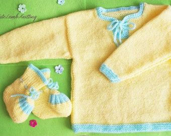 Knitted baby clothes, knitted Baby Booties, Knit baby sweater baby pullover, knitted baby boots, unisex baby clothes детская одежда пинетки