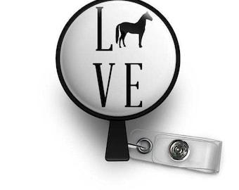 Horse LOVE Retractable ID Badge Reel