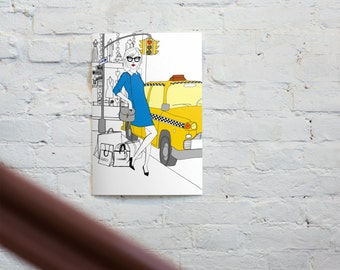 Taxi - original illustrations, posters