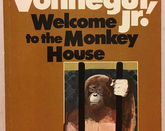 Kurt Vonnegut Jr. Welcome to the Monkey House. First/1st paperback edition. Fine copy, clean & sharp, appears unread. Sci-fi short story