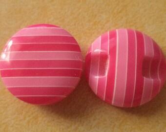 12 buttons 15mm pink button pink (2858)