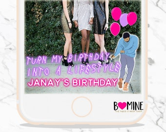 DRAKE SNAPCHAT GEOFILTER Neon Birthday Snapchat Filter Drake Turn my Birthday into a Lifestyle With my Woes Birthday Party Hip Hop Party
