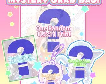 Mystery Grab Bag * Print, Sticker. Charms!