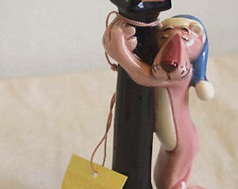 Pink Panther Ceramic Figure with Tag