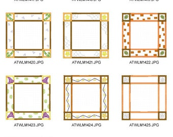 Halloween-Frames. ( 10 Machine Embroidery Designs from ATW )