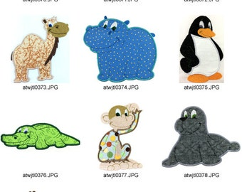 Applique-Zoo-2 ( 10 Machine Embroidery Designs from ATW ) XYZ17B