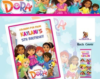 Dora and Friends Coloring Book with Crayons