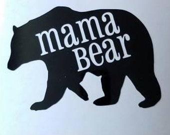 Mama Bear, Papa Bear or Baby Bear Decal - permanent vinyl - perfect for car windows, Yeti & Rtic tumbler cups, car windows, coffee mugs, etc