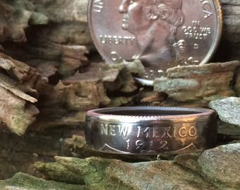 New Mexico state quarter coin ring