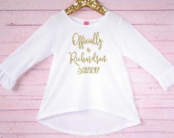 Gotcha Day shirt - Adoption day shirt - Adoption keepsake shirt - New last name shirt Court day adoption shirt Personalized adoption shirt