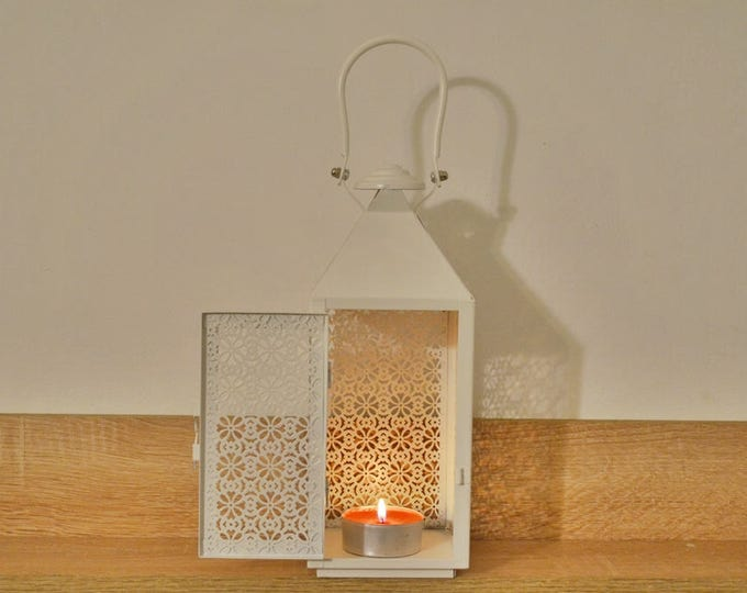 10%OFF White Moroccan lantern / Wedding lanterns /garden lanterns / wedding lantern centerpiece
