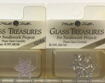 Mill Hill Treasures Snowflakes (Glass & Metal): ONLY ONE of Each Available Unless Otherwise Noted