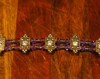 Antique Vintage Style Bracelet Swarovski Crystals