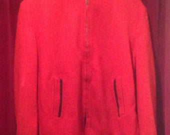 1950's Jacket / Wool Red Jacket / label - Outdoor made in Toronto