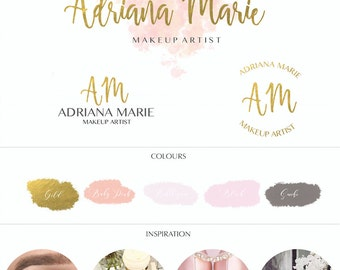 Pink Branding Kit/ Logo Design / Premade branding package / Custom Logo/ watermark/ Digital Design