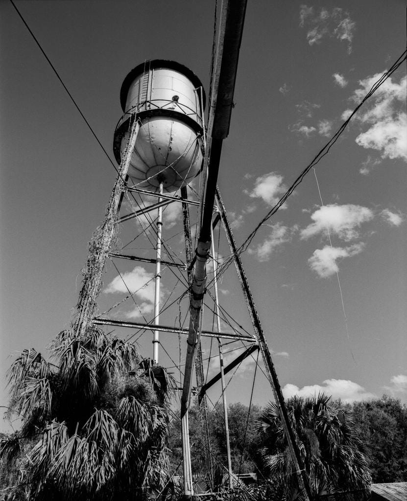 old water tower film photo print photograph darkroom black u0026