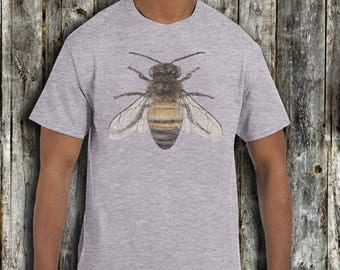 Men's Honey Bee T shirt - Fathers day T shirt Gift - xs, small, medium, large, xl, 2xl Bumble Bee honey Bee t shirt
