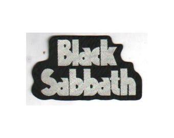 BLACK SABBATH 'Name' woven sew on patch