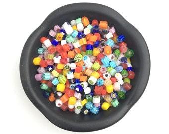 4-5mm Murrini Millefiori Transparent Assorted Mix, Effetre glass COE 104, Mosaic Art, Lampwork-Fused Glass, Murano Glass, 1oz, 28g