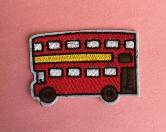 London Bus Iron on Patch